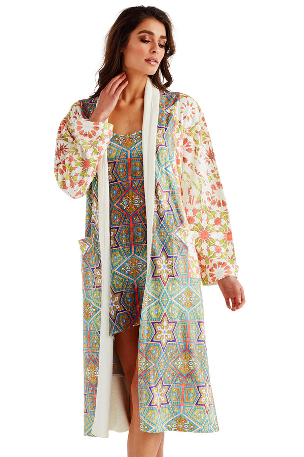 La Mamounia Coral Long Robe