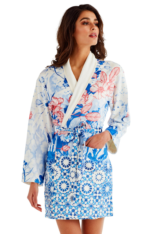 Mosaic Short Robe