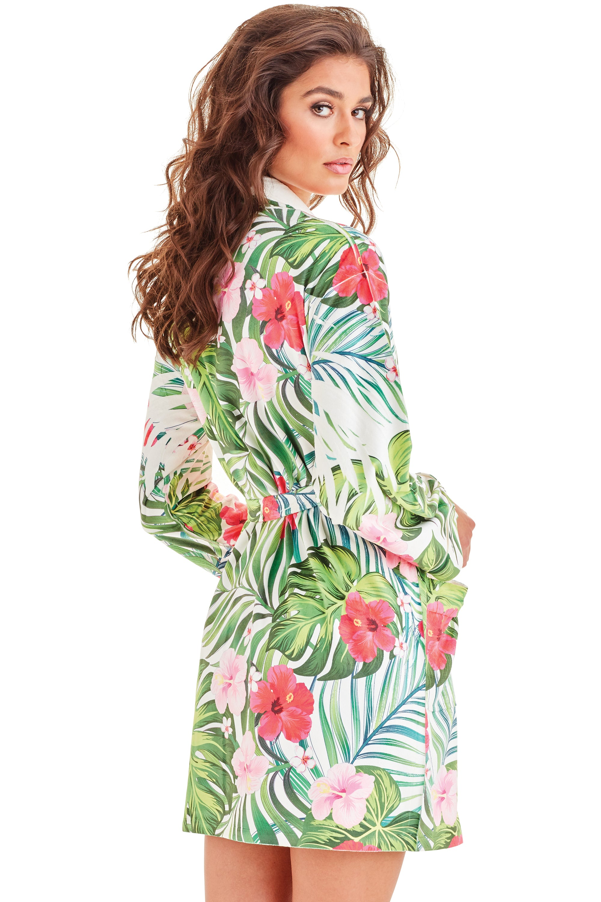 Tropical Short Robe