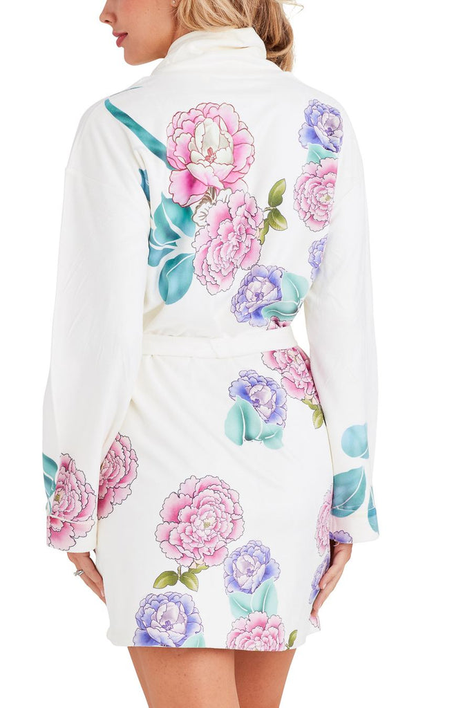Good Fortune White Short Robe
