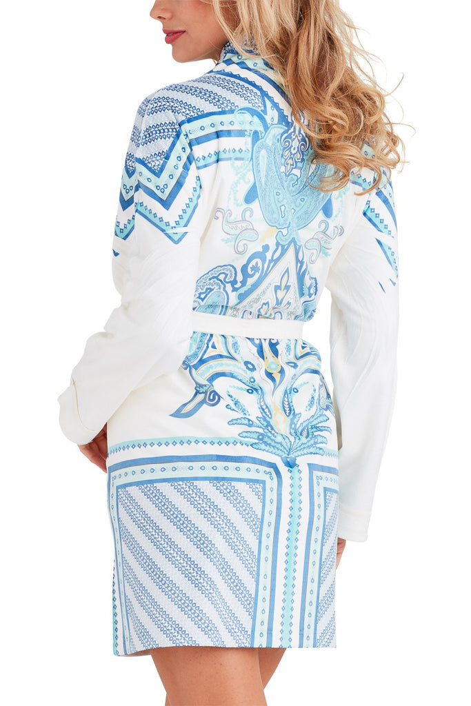 Coachella Blue Short Robe