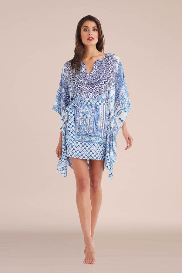 Blue Ceramic Short Caftan