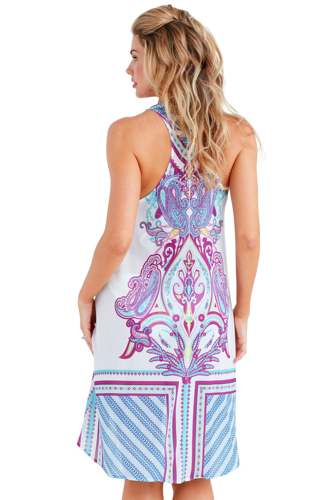 Coachella Purple Racerback Dress