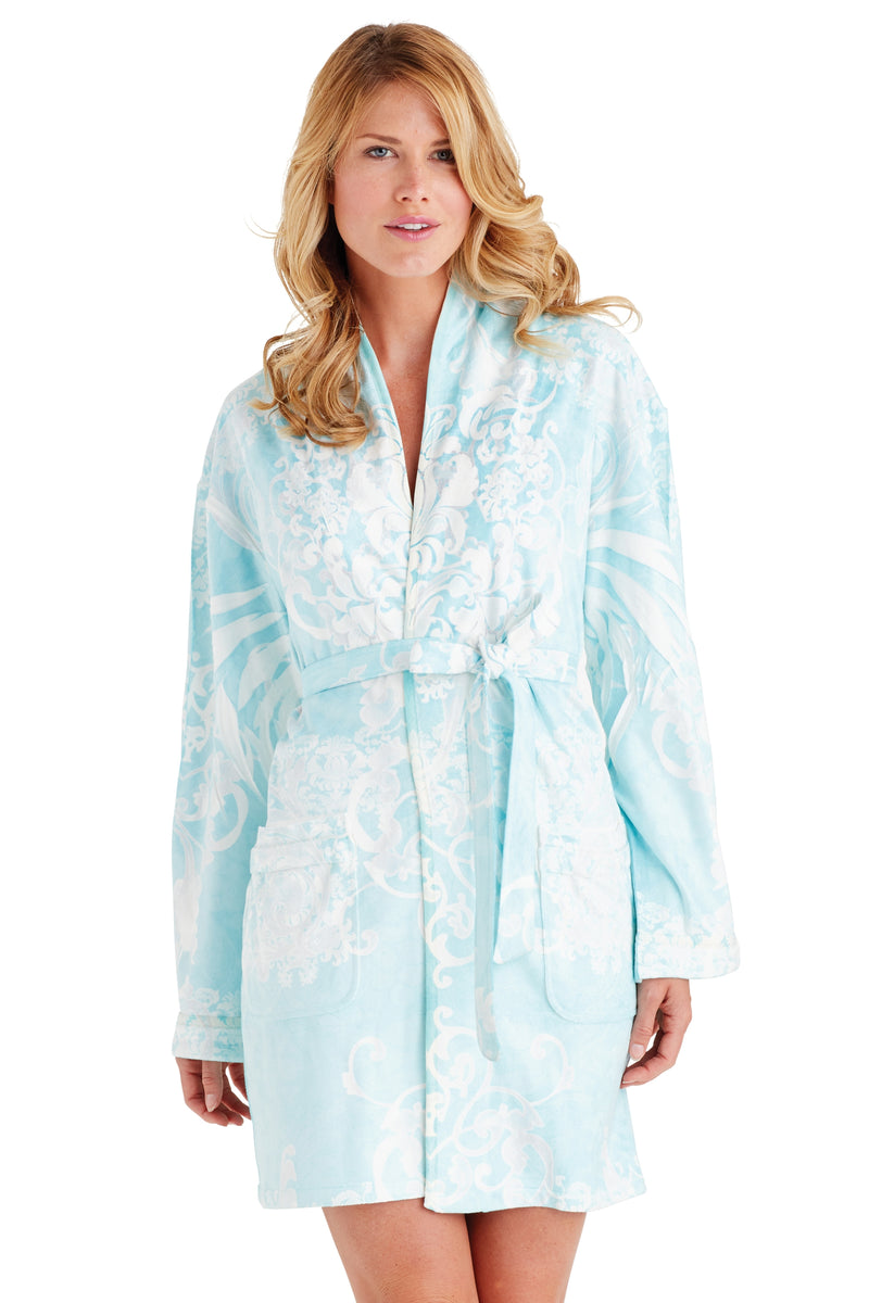 Romantic Blue Short Robe