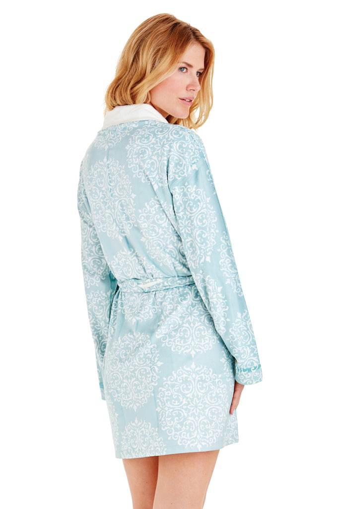 Silver Medallion Short Robe