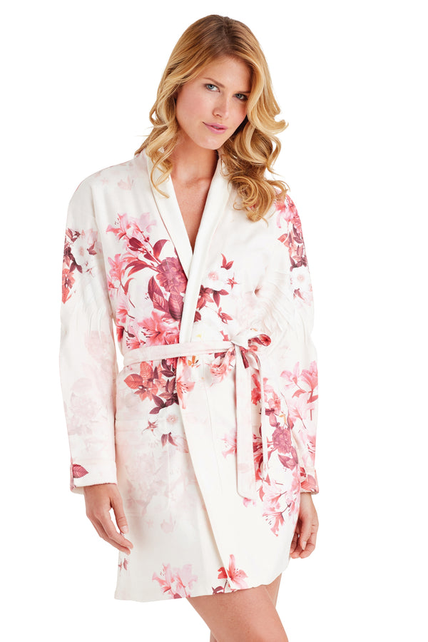 Red Velvet Short Robe