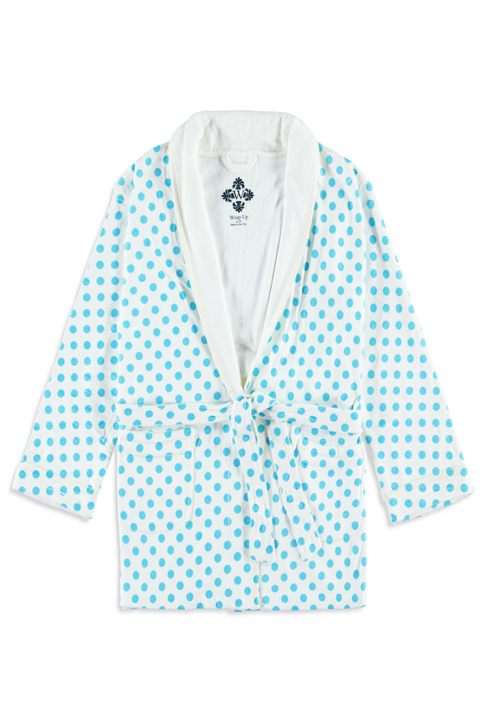 Blue Polka Dot Kids Robe