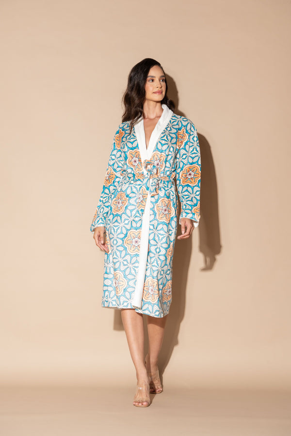 Jardin Botanique Orange Long Robe