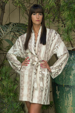 Tropical Snake Short Robe