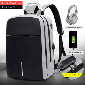 Back pack anti robo, con puerto de carga USB. 3 colores