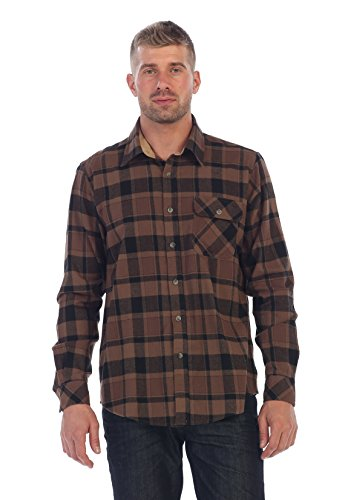 Chocolate / Black 100% Cotton Flannel Shirt