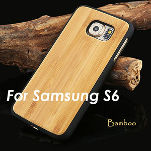 Real Wood Phone Cases For Samsung Galaxy S6 S6 edge Natural Rosewood Cherry Carbonized bamboo Wooden Case Hard PC Back Cover New - Mr. Wooden
