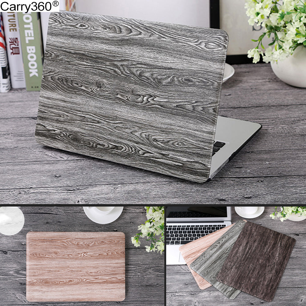 Carry360 Wood Grain PU Leather Case for Macbook Air 13 Case Cover for Apple Mac book Air Pro Retina 11 12 13.3 15 inch - Mr. Wooden