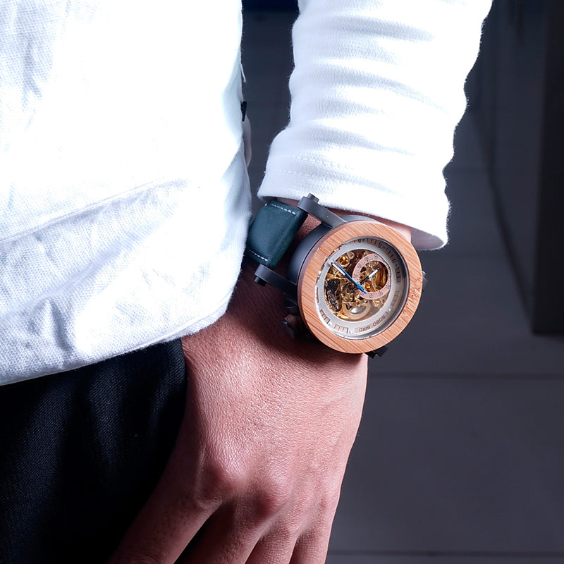 Skell Mechanical Automatic Watch - Mr. Wooden
