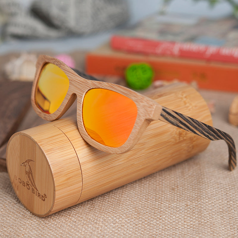 Enzillium Orange Sunglasses - Mr. Wooden