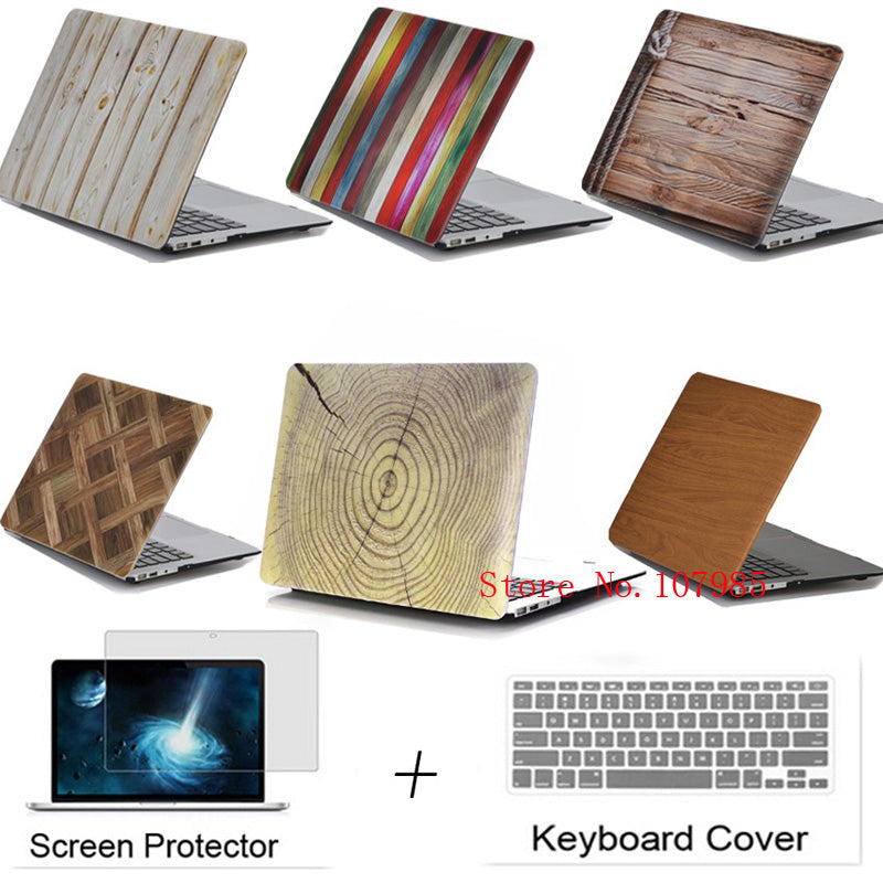 Wood laptop Cover Case For Apple Macbook 11.6 12 13.3 15.4 Air Pro with Retina Touchbar For Mac book 11 12 13 15 inch bag case - Mr. Wooden