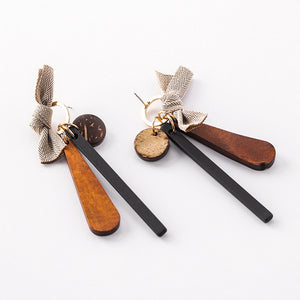 Bowknot Wooden Earrings - Mr. Wooden