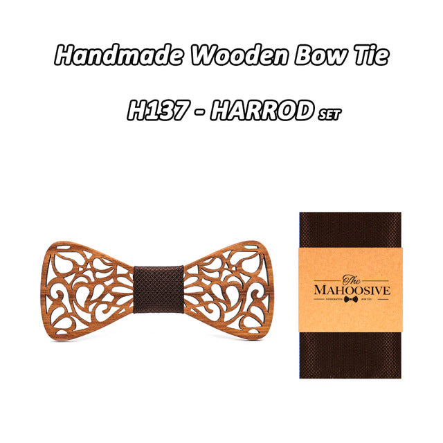 Floral Wood Bow Ties - Mr. Wooden