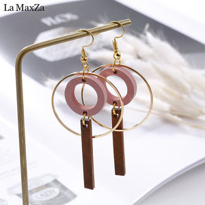 Alloy Wood Earrings - Mr. Wooden