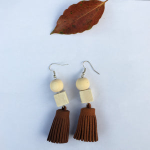 Rainbow Color Tassels Earrings - Mr. Wooden