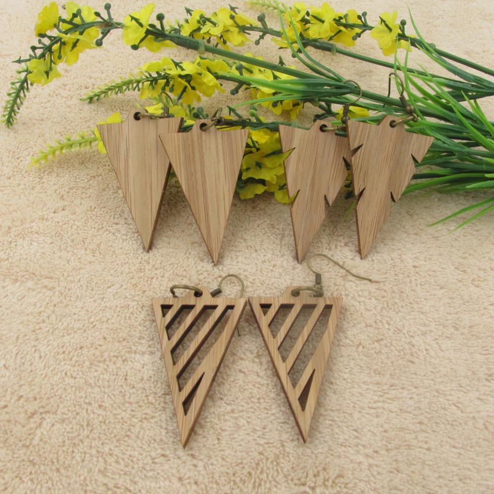 Triangles Shape Wooden Earring - Mr. Wooden
