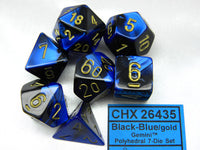 7-Die Set Gemini -Black - Blue/Gold