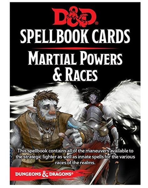 Dungeons and Dragons: Spellbook Cards - Martial Powers & Races