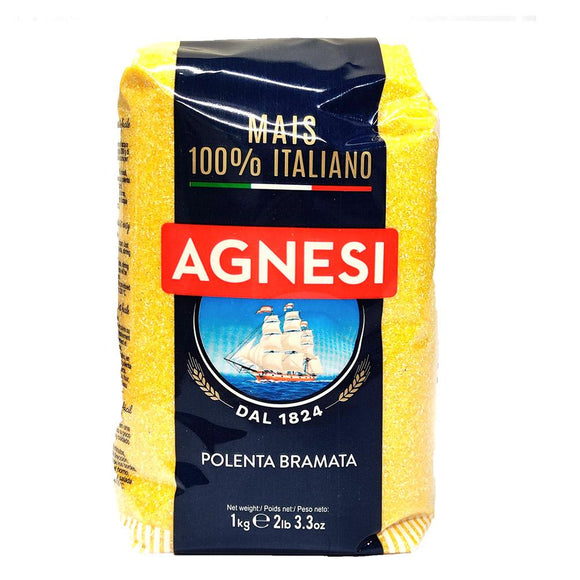 Agnesi - Polenta Bramata - 1kg-The Italian Shop