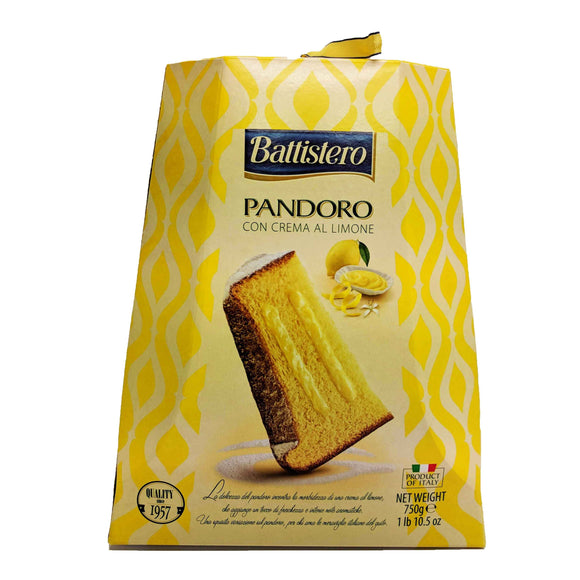 Battistero - Pandoro - Con Crema al Limone-The Italian Shop