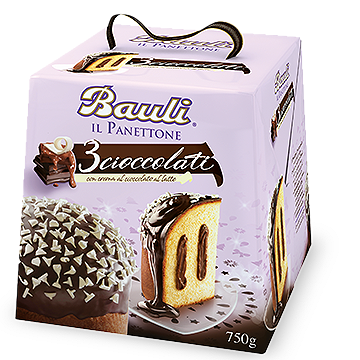 Bauli - Panettone - 3 Cioccolato-The Italian Shop