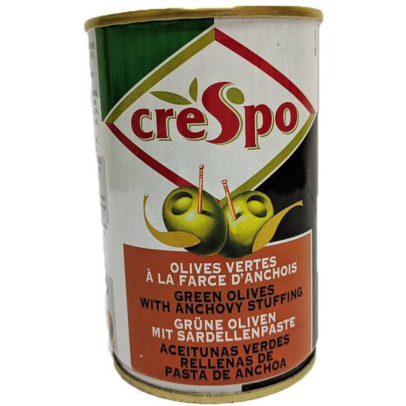 Crespo - Green Olives with Anchovy Stuffing - The Italian Shop - Free delivery