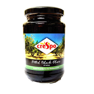 Crespo - Pitted Black Olives - In Brine-The Italian Shop