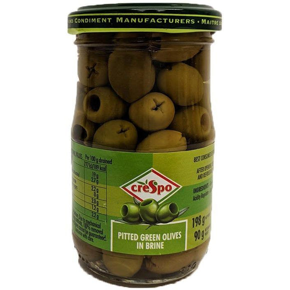 Crespo - Pitted Green Olives in Brine - The Italian Shop - Free delivery
