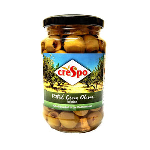 Crespo - Pitted Green Olives - In Brine-The Italian Shop