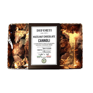 Diforti - Cannoli - Hazelnut Chocolate gluten free (made without wheat) 5pk - The Italian Shop - free delivery