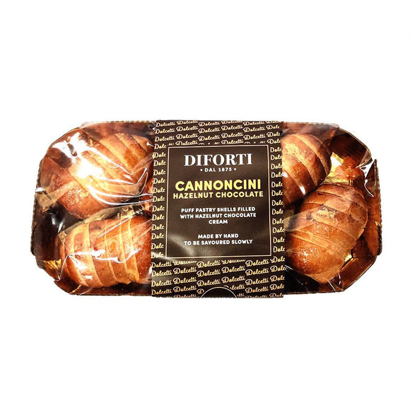 Diforti - Cannoncini- Hazelnut Chocolate 6pk - The Italian Shop - free delivery