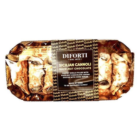 Diforti - Sicilian Cannoli - Hazelnut Chocolate-The Italian Shop - Free Delivery