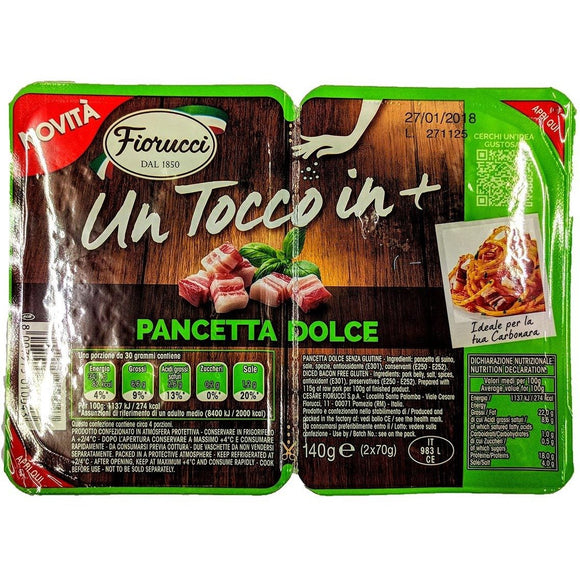 Fiorucci - Pancetta Dolce - The Italian Shop - Free delivery