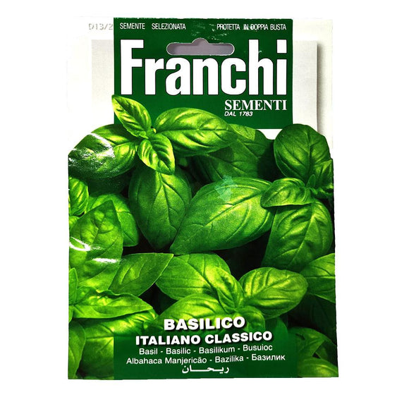 Franchi - Basilico - Seeds-The Italian Shop
