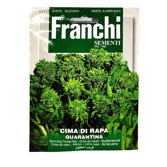 Franchi - Cima Di Rapa ( Quarantina ) - Seeds-The Italian Shop