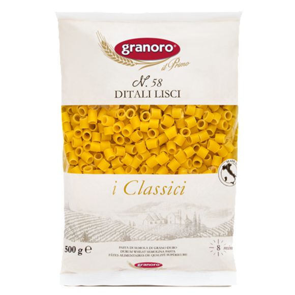 Granoro - Ditali Lisci - N.58-The Italian Shop - Free Delivery
