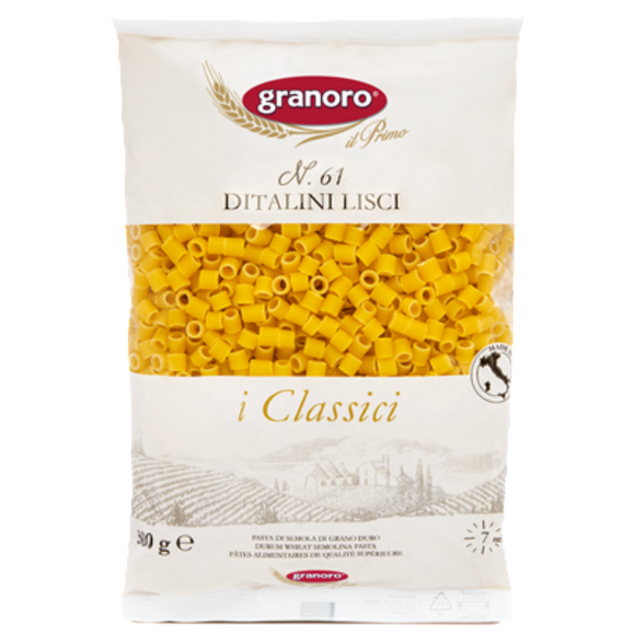 Granoro - Ditalini Lisci - N.61-The Italian Shop - Free Delivery