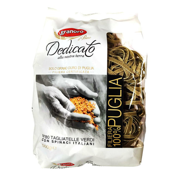 Granoro - Tagliatelle Verdio ( Spinach ) - N.80-The Italian Shop