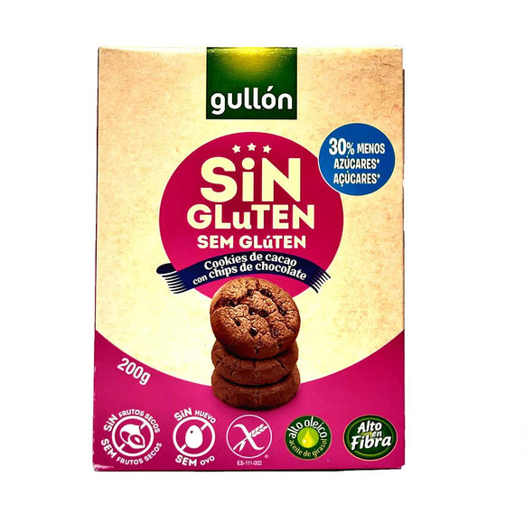 Gullon - Chocolate Chip Cookies - Gluten Free - The Italian Shop - free delivery