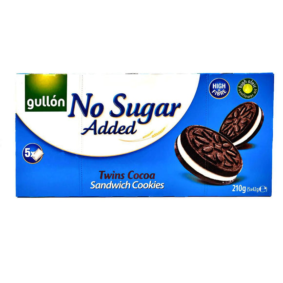 Gullon - Twins Cocoa - No Sugar Added-The Italian Shop