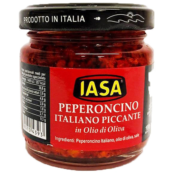 Iasa - Peperoncino Italiano Piccante in Olive Oil-The Italian Shop