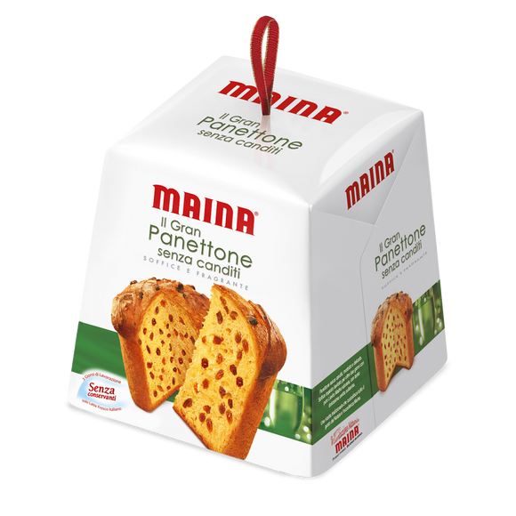 Maina - Il Gran Panettone - Senza canditi ( no candied peel )-The Italian Shop