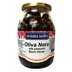 Mamma Maria - Black Olives-The Italian Shop