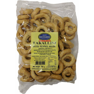 Ricciardi - Tarallini with fennel - The Italian Shop - Free delivery