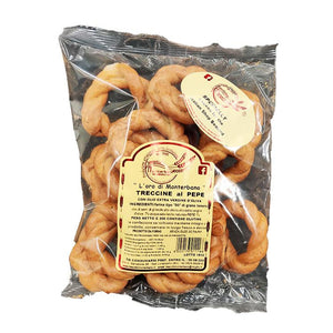Taralli - Treccine Al pepe-The Italian Shop